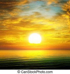 מעל, עלית שמש, ים