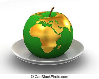 מפה, ב, ה, תפוח עץ