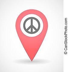 מפה, סימן של שלום, איקון, ציין