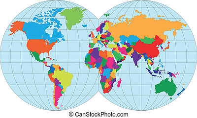 מפה, עולם