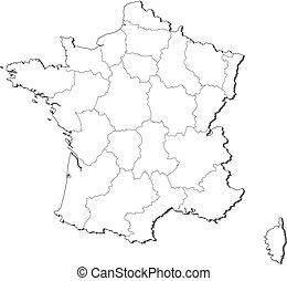 מפה, של, צרפת