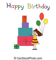 מפלגה, יום הולדת, כרטיס של דש, ילדים