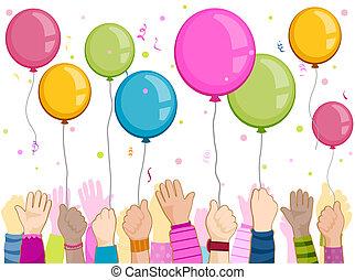 מפלגה, ילדים, ידיים