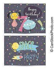 מפלגה, כוסטאמאד, יום הולדת, ילדים, הזמנה