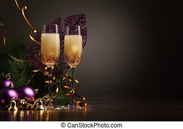 מפלגה, משקפיים של שמפנייה, ראש שנה