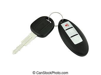 מפתח של מכונית, עם, שלט רחוק
