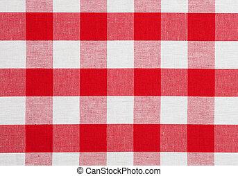 מפת שולחן, בדוק, מארג, אדום