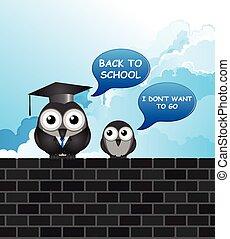 מצחיק, סטודנט, מורה, בית ספר, השקע