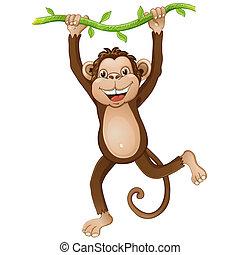 מצחיק, קוף, ציור היתולי