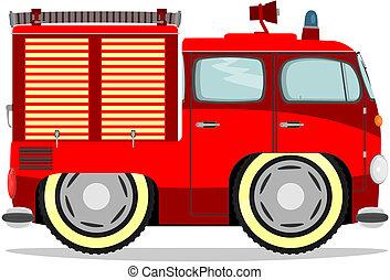מצחיק, firetruck.