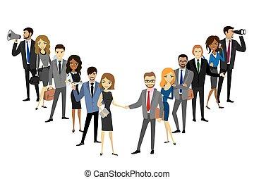 מקצועי, קבץ, שני, צוות של עסק