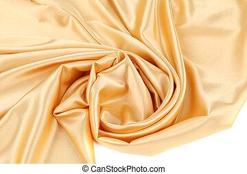משי, זהב, swirl.