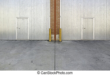 מתכת, דלת תעשיתית