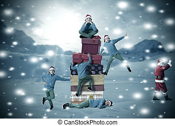 מתנות, ילדים, השלג, חג המולד