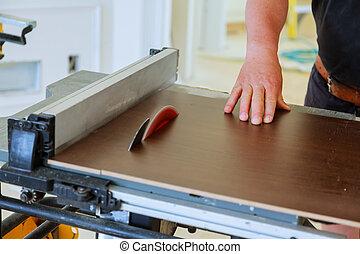 נגר, wood., לחתוך, להשתמש, שולחן ראה