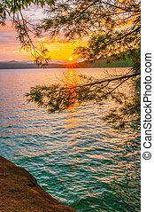 נוף, זלול, jocasse, מסביב, אגם