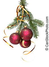 נורות חשמל, חג המולד, אדום