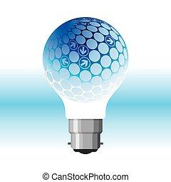נורת חשמל, חיצים, רעיון