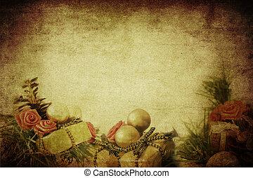 נייר, בציר, חג המולד, רקע