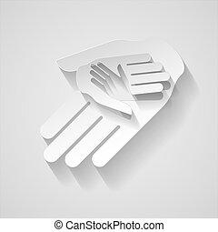 נייר, ידיים