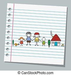 נייר, משפחה, מחברת