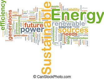 ניתן להמשך, אנרגיה, מושג, רקע