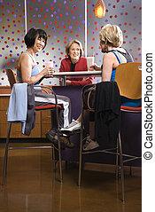 נשים, cafe., כושר גופני
