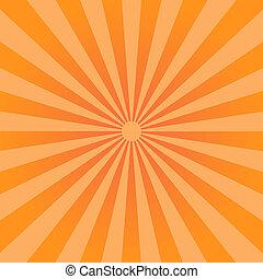 סאנבארסט, pattern., רקע, ראדיאלי