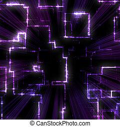 סגול, תבנית, גיאומטרי