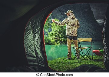 סוף שבוע, לדוג, קמפינג