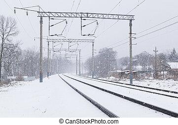 סופת שלג, ב, ה, רכבת, מסלולים, ב, חורף