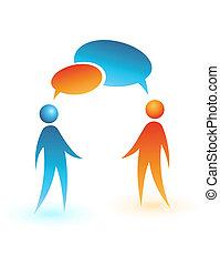 סוציאלי, תקשורת, icon., מושג, וקטור, אנשים