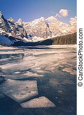 סחופת קרחון, פרק לאומי, אגם, בנפ