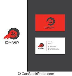 סחורה, עסק, מועדון, חברה, הלחם, דפוסית, לוגו, או, כרטיס