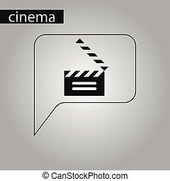 סיגנון, שחור, לבן, slapstick, הסרט, איקון