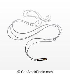 סיגריה, עשן