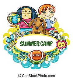 סידרה, אומנות, קיץ, frame., ילדים, מחנה