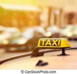 סימן של מונית, ב, מכונית, ב*מסמן, טשטש