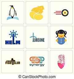 סינרגיה, קבע, איקונים, פשוט, editable, הלחם, מועדון, 9, כזה, סלון