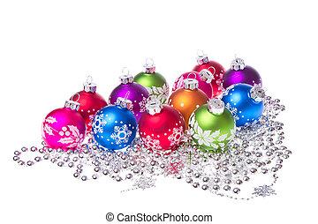 סמלים, כדורים, חג המולד, פתיתת שלג