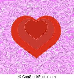 סמל, של, לב