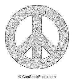 סמל של שלום, פרחוני