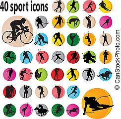 ספורט, איקונים