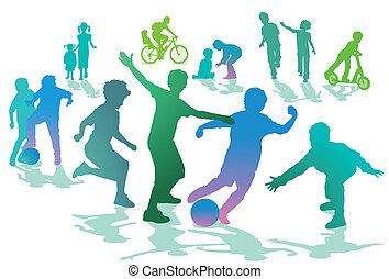 ספורט, ילדים, נוחיות