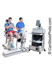 ספורט, מדען, לעשות, הצגה, assessment., טכנולוגיה מודרנית