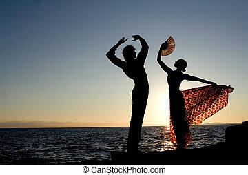 ספרדי, רקדנים, ספרד, לרקוד