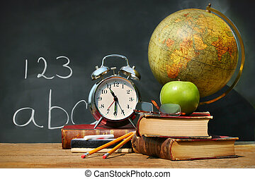 ספרים, ישן, בית ספר