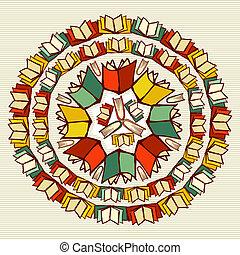 ספרים של בית הספר, חינוך, השקע, mandala.