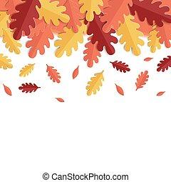 סתו, וקטור, רקע, leaves., דוגמה