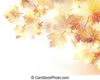 סתו, פלוס, eps10, leaves., רקע